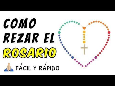 Como rezar el Santo Rosario - tutorial fácil paso a paso - YouTube