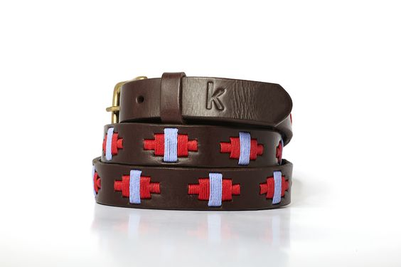 Women leather belts from Argentina / Rouge - Lila