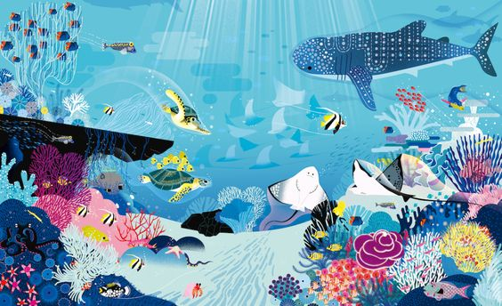 Charming Ocean Illustrations Show Hundreds of Creatures Under the Sea