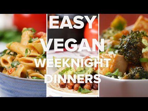 Easy Vegan Weeknight Dinners Youtube Crock Pot Soup For Date Night Easy Vegan Vegetarian Recipes Vegan Dinners