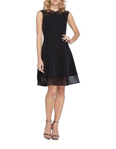 Tahari Arthur S. Levine Sleeveless A-Line Dress Women's Black 4