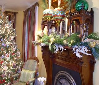 Victorian holiday mantle