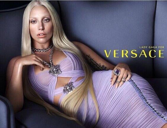.lady gaga for Versace <3 #ladygaga #versace