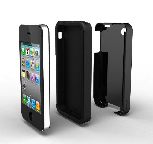 Acase(TM) iPhone 4 and 4S Superleggera PRO Dual Layer Protection (Black/Black) case (Fits ATT, Sprint and Verizon iPhone 4 and 4S)