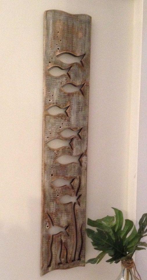Recycled Wood Art Wall Hangings Beach Wall Decor Driftwood Art
