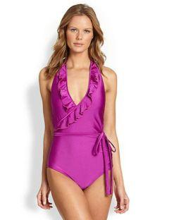 KUSHCUSH Lauren Ruffled One-Piece Swimsuit