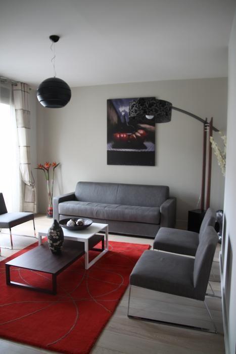 Déco salon moderne : Hotel Aime Paris // http://www.deco.fr/photo ...