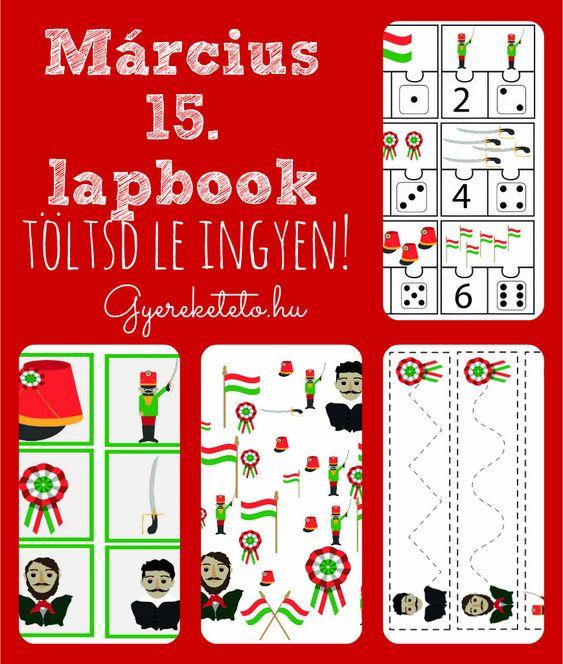 Március 15-e lapbook - ingyen letölthető - Gyereketető