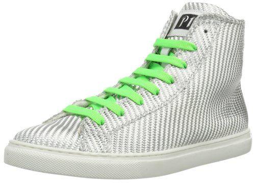 P1 220 bpm 220 bpm Silver Twill Damen Sneaker, Silber (Silver Twill), EU 38 (UK 5) (US 7.5) - http://on-line-kaufen.de/p1/38-eu-p1-220-bpm-twill-damen-sneaker