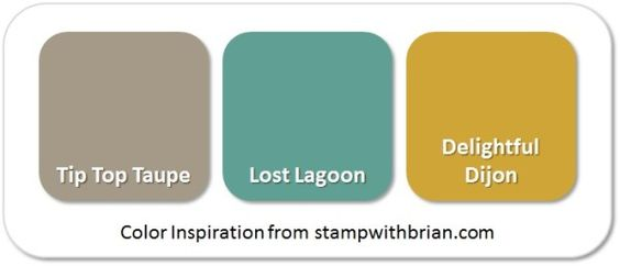 Stampin' Up! Color Inspiration: Tip Top Taupe, Lost Lagoon, Delightful Dijon: