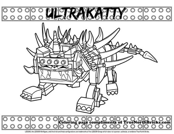 Ultrakatty Coloring Page From The Lego Movie 2 True North Bricks Coloring Pages Lego Poster Lego Movie