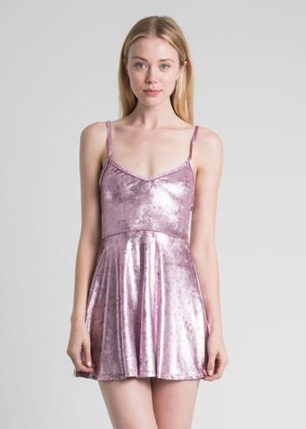 Stretch Velvet Pink Sleeveless Dress - Leather- Sleeveless dresses ...