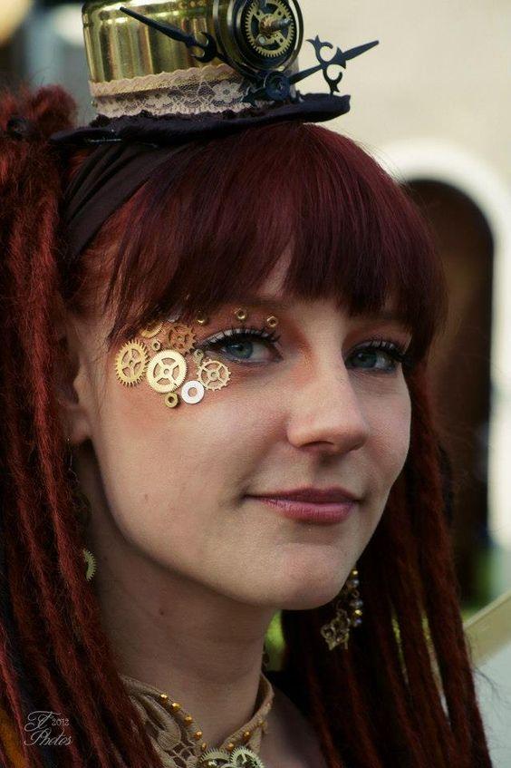 Steampunk Makeup Idea!!!! Love it!!!  Photo by Erwin Vd Eijkhof    With Linda Blad in Arcen, Limburg, Netherlands.