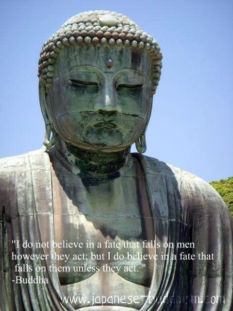 Kamakura's Big Buddha and a Quote from Buddha on fate.