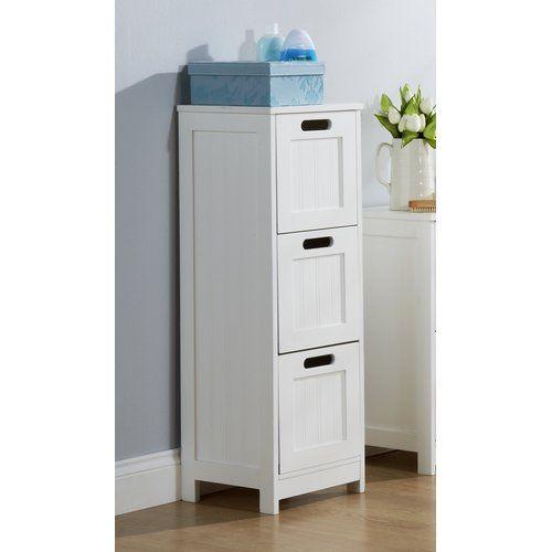 House Of Hampton Hampton 92x30cm Free Standing 3 Draw Unit Under Sink Storage Under Sink Storage Unit Cabinet Shelving