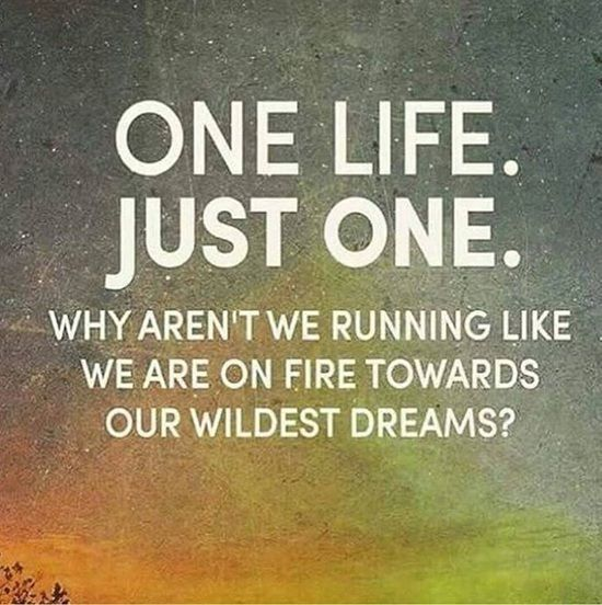 Nice Inspirational Quotes About Dreams One Life Just One Towards Dreams One Life Quotes Dream Quotes Inspirational Quotes
