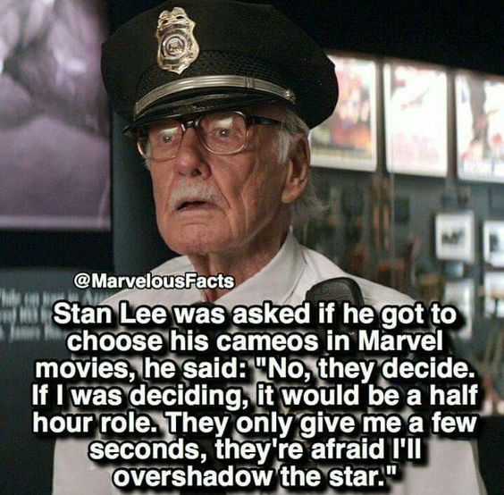 Stan you will!!!! We all love you I want a movie of youuuuu in going to miss you if or when you die I just cant