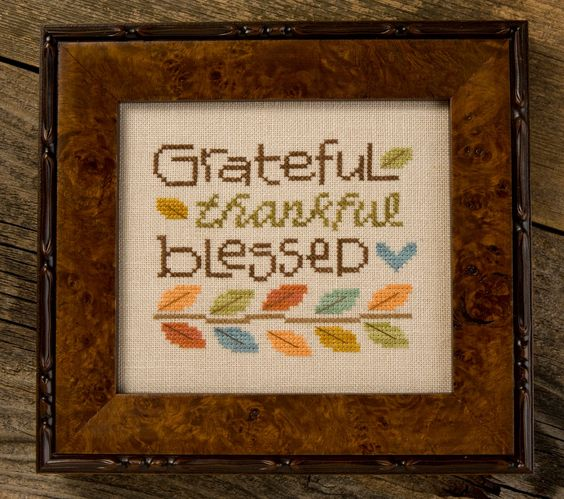 """Lizzie*Kate Blog: Time for """"thankful"""" stitching"""