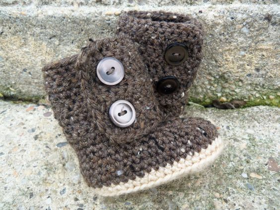 UGG Baby Boots  Stylish Earth Tone Colors by cmiron on Etsy, $20.00
