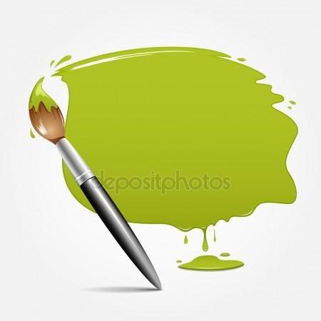 Télécharger - Pinceau. la conception de votre texte d'espace vert — Illustration #11612700