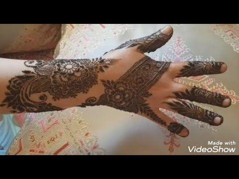 أجمل نقش حناء على اليدين حيبهرك Henna Inscription In The Utmost Beauty Youtube Hand Henna Henna Hand Tattoo Hand Tattoos