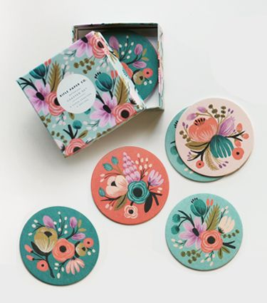 Botanical Coaster Set from Rifle Paper Co.