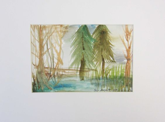 Swampforest in a minute - watercolour