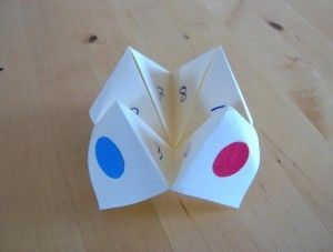 Origami Fortune Teller~remember making and playing with these in middle school.