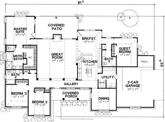 2532 Sq Ft 5 3 Util Basement Houseplans 2400 2599