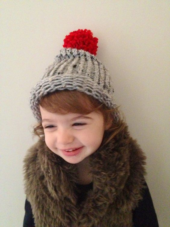 Adorable Christmas kids slouchy beanie  hand by Squirrelsandsquids, $12.00