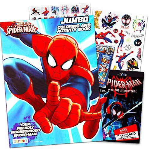 Marvel Spiderman Coloring Book Bundle With Over 300 Bonus Https Www Amazon Com Dp B01fkea8r0 Ref Cm Sw R P Spiderman Coloring Spiderman Stickers Spiderman