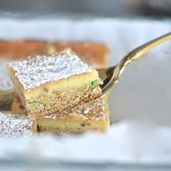 Lavender-Infused Gooey Butter Cake