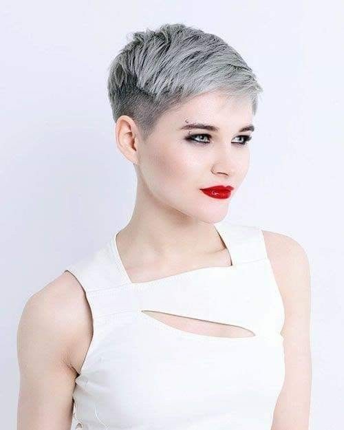 Pin By Victoria Hatch On Hair In 2020 Short Hair Styles Thick Hair Styles Super Short Hair