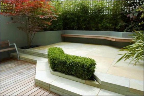 Patio fenced modern garden design
