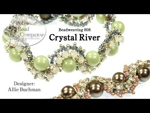 """Make a """" Crystal River """" Bracelet - from Potomac Bead Company, and all supplies available at www.potomacbeads.com"""