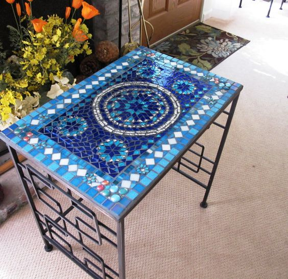 Mosaic Patio Table: