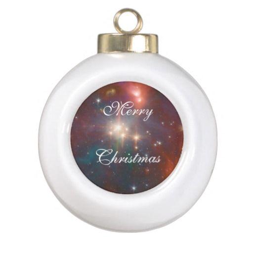 Coronet Cluster Sig07-018 Ceramic Ball Christmas Ornament