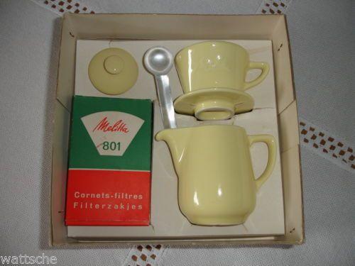 Melitta-Minden-Kaffee-Filka-Filter-und-Kanne-fuer-Kinder-gelb-in-OVP-2-sprachig