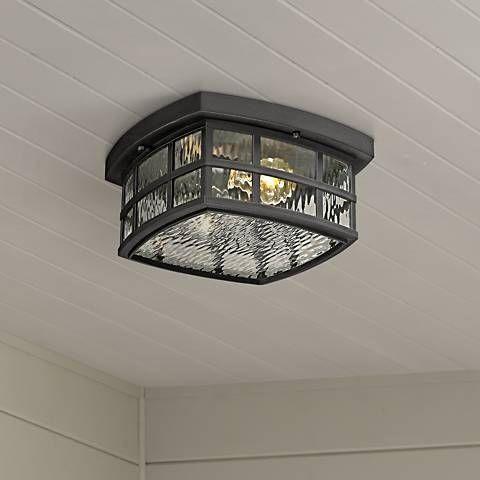 Stonington 12 Wide Mystic Black Outdoor Ceiling Light 8t169 Lamps Plus In 2020 Ceiling Lights Outdoor Ceiling Lights Farmhouse Outdoor Lighting