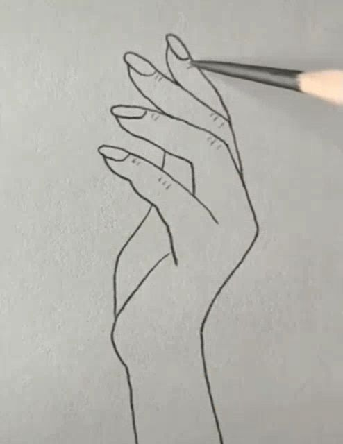 Hand Drawing Drawing Hand With Images Easy Hand Drawings