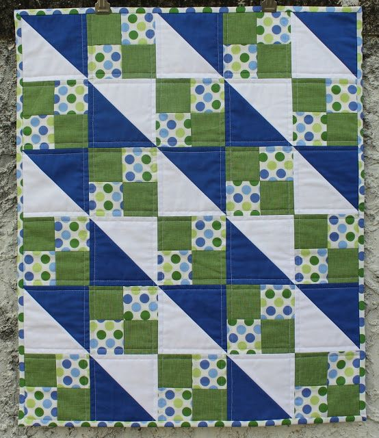 Quilt, Half Square Triangles And Blue Fabric On Pinterest