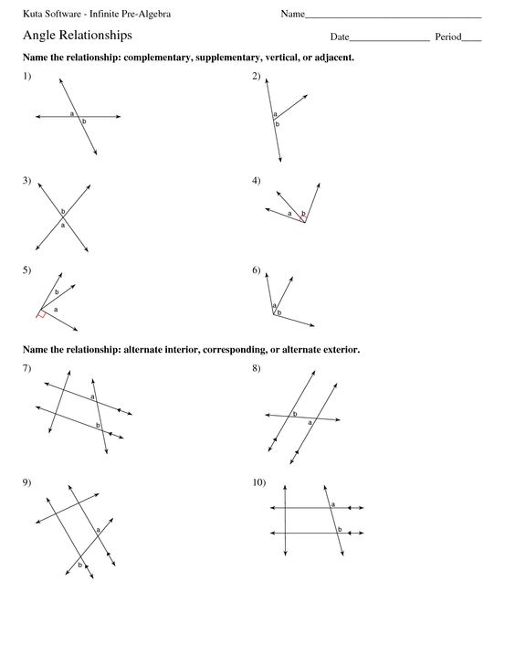 math worksheet : alt interior angle worksheets  kuta software infinite pre algebra  : Math Worksheets Kuta