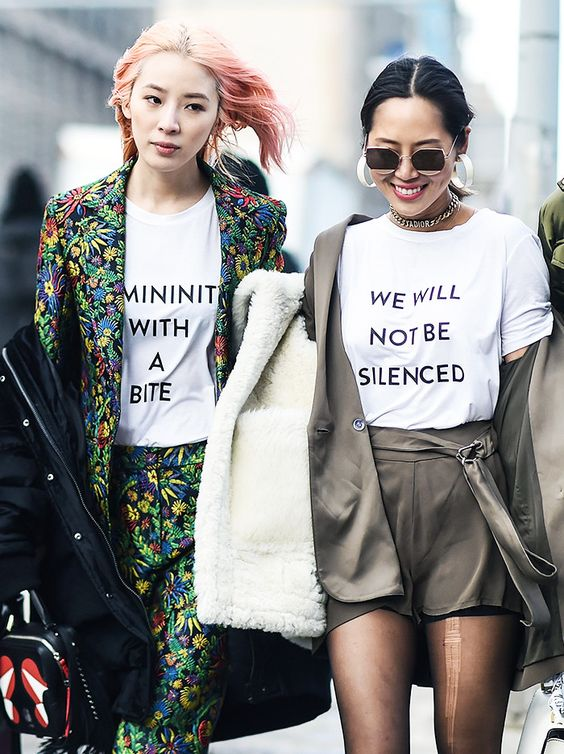 The strongest message at fashion week this season was political and powerful.: