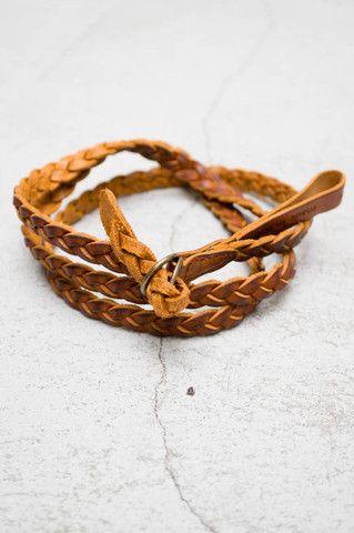 Giada Forte Tan Narrow Braid Belt $155