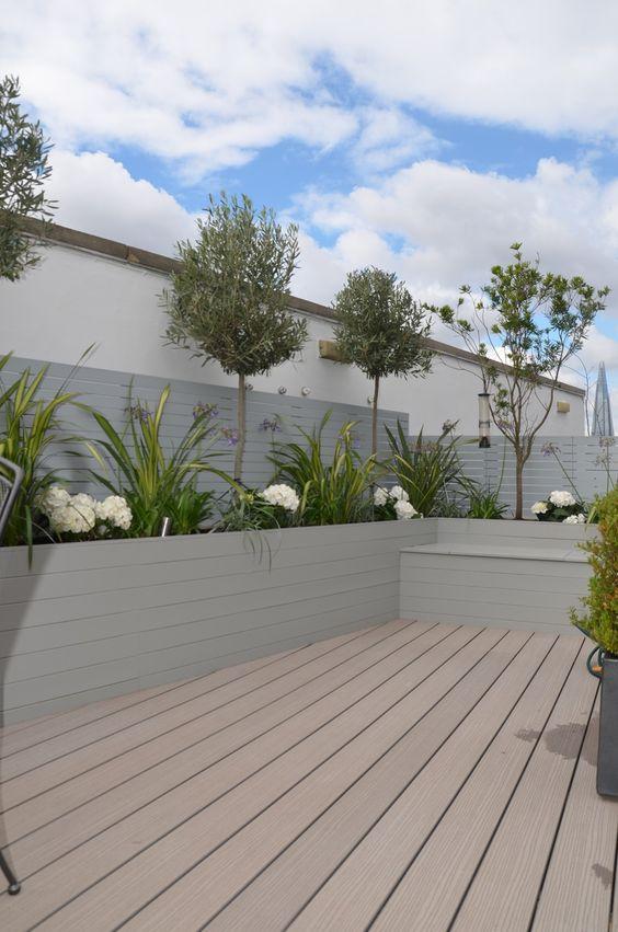 Composite decking hardwood grey privacy screen trellis for Trellis planter garden screen