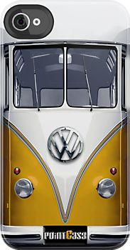 Yellow Volkswagen VW iphone 4 4s, iPhone 3Gs, iPod Touch 4g case by Pointsale store