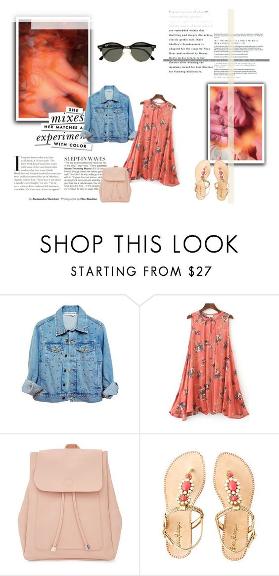 """""""Untitled #337"""" by vassiascissors ❤ liked on Polyvore featuring New Look, Lilly Pulitzer, Ray-Ban and Kate Spade"""