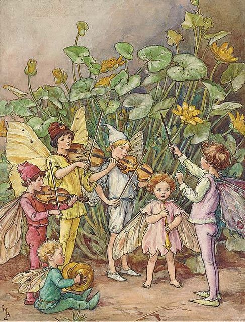 """A fairy orchestra"" by Cicely Mary Barker    illustration for The Water Babies:"