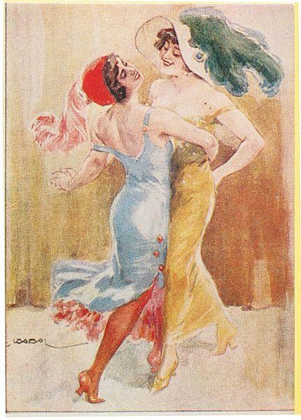 Tango postcard 1920s