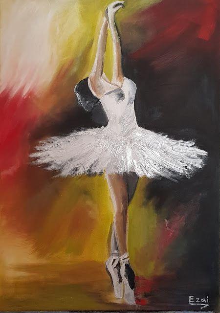 Acemi Ressamlar Yagli Boya Calismalari Ezgi Atic 4 2020 Balerin Sanat Tuval Sanati Sanat Ogreticiler